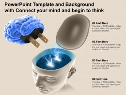 Powerpoint Template And Background With Connect Your Mind And Begin To Think