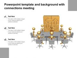 Powerpoint Template And Background With Connections Meeting