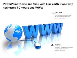 Powerpoint Template And Background With Connectivity And Security Global