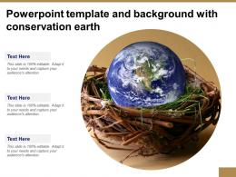 Powerpoint Template And Background With Conservation Earth
