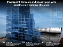 Powerpoint Template And Background With Construction Building Structure