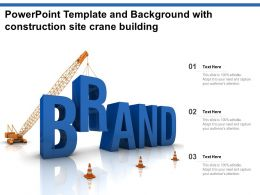 Powerpoint Template And Background With Construction Site Crane Building
