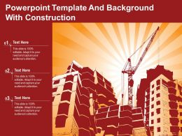 Powerpoint Template And Background With Construction