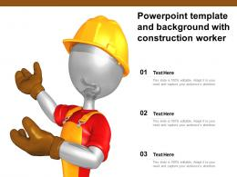 Powerpoint Template And Background With Construction Worker