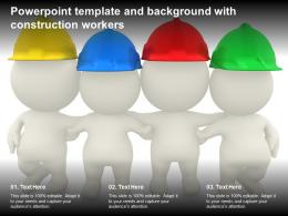 Powerpoint Template And Background With Construction Workers
