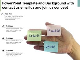 Powerpoint Template And Background With Contact Us Email Us And Join Us Concept