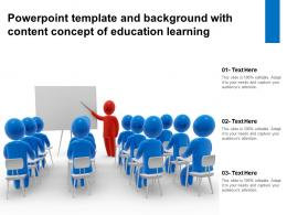 Powerpoint Template And Background With Content Concept Of Education Learning