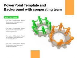 Powerpoint Template And Background With Cooperating Team