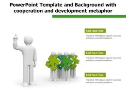 Powerpoint Template And Background With Cooperation And Development Metaphor