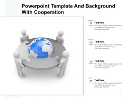 Powerpoint Template And Background With Cooperation