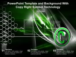 Powerpoint Template And Background With Copy Right Symbol Technology