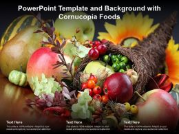 Powerpoint Template And Background With Cornucopia Foods