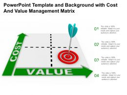 Powerpoint Template And Background With Cost And Value Management Matrix