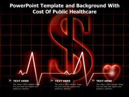 Powerpoint Template And Background With Cost Of Public Healthcare