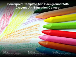 Powerpoint Template And Background With Crayons Art Education Concept