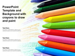 Powerpoint Template And Background With Crayons To Draw And Paint
