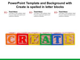 Powerpoint Template And Background With Create Is Spelled In Letter Blocks