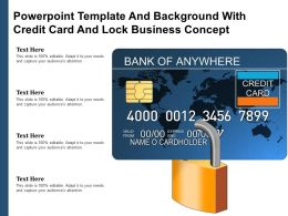 Powerpoint Template And Background With Credit Card And Lock Business Concept