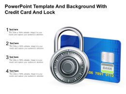 Powerpoint Template And Background With Credit Card And Lock