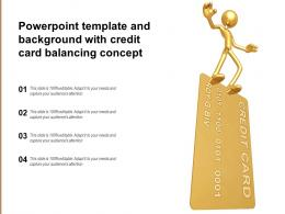 Powerpoint Template And Background With Credit Card Balancing Concept