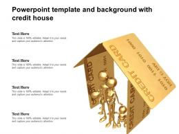 Powerpoint Template And Background With Credit House