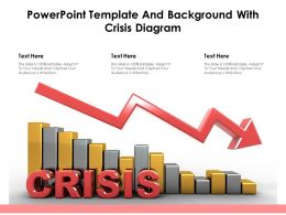 Powerpoint Template And Background With Crisis Diagram
