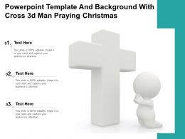 Powerpoint Template And Background With Cross 3d Man Praying Christmas