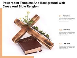 Powerpoint Template And Background With Cross And Bible Religion