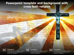 Powerpoint Template And Background With Cross Faith Religion