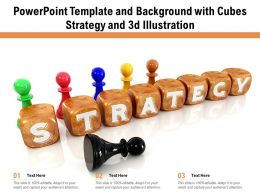 Powerpoint Template And Background With Cubes Strategy And 3d Illustration