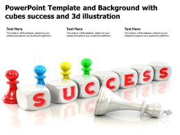 Powerpoint Template And Background With Cubes Success And 3d Illustration