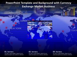 Powerpoint Template And Background With Currency Exchange Market Business