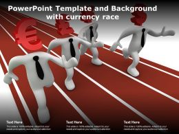 Powerpoint Template And Background With Currency Race