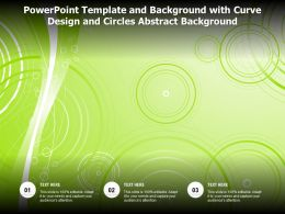 Powerpoint Template And Background With Curve Design And Circles Abstract Background