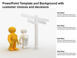 Powerpoint Template And Background With Customer Choices And Decisions