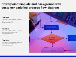 Powerpoint Template And Background With Customer Satisfied Process Flow Diagram