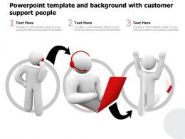 Powerpoint Template And Background With Customer Support People