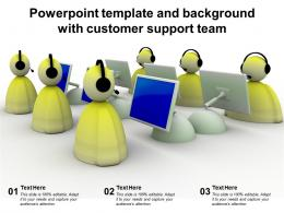 Powerpoint Template And Background With Customer Support Team