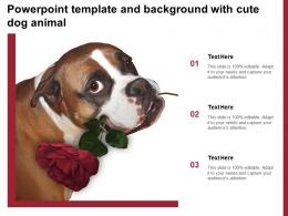 Powerpoint Template And Background With Cute Dog Animal