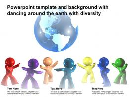 Powerpoint Template And Background With Dancing Around The Earth With Diversity