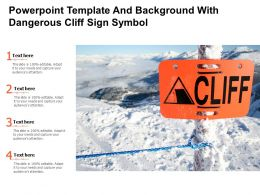 Powerpoint Template And Background With Dangerous Cliff Sign Symbol
