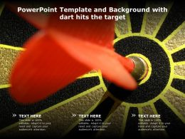 Powerpoint Template And Background With Dart Hits The Target