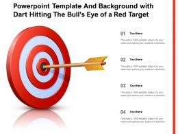 Powerpoint Template And Background With Dart Hitting The Bulls Eye Of A Red Target