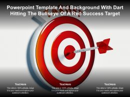 Powerpoint Template And Background With Dart Hitting The Bullseye Of A Red Success Target