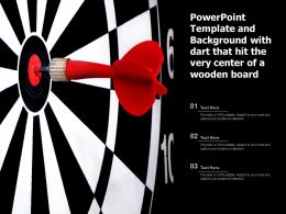 Powerpoint Template And Background With Dart That Hit The Very Center Of A Wooden Board