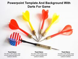 Powerpoint Template And Background With Darts For Game