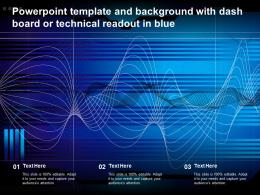 Powerpoint Template And Background With Dash Board Or Technical Readout In Blue