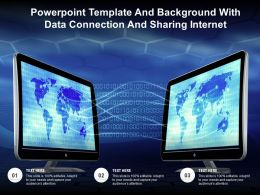 Powerpoint Template And Background With Data Connection And Sharing Internet