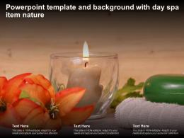 Powerpoint Template And Background With Day Spa Item Nature