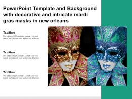 Powerpoint Template And Background With Decorative And Intricate Mardi Gras Masks In New Orleans